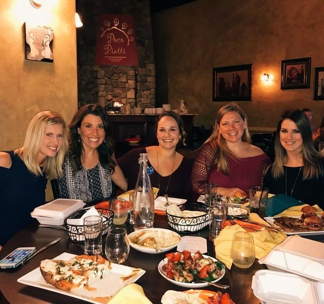 Nothing like laughing for hours with girlfriends while eating goodhellip